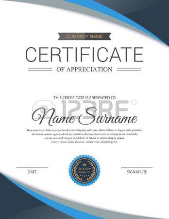 Vector Zertifikat Vorlage  Lizenzfreie Bilder