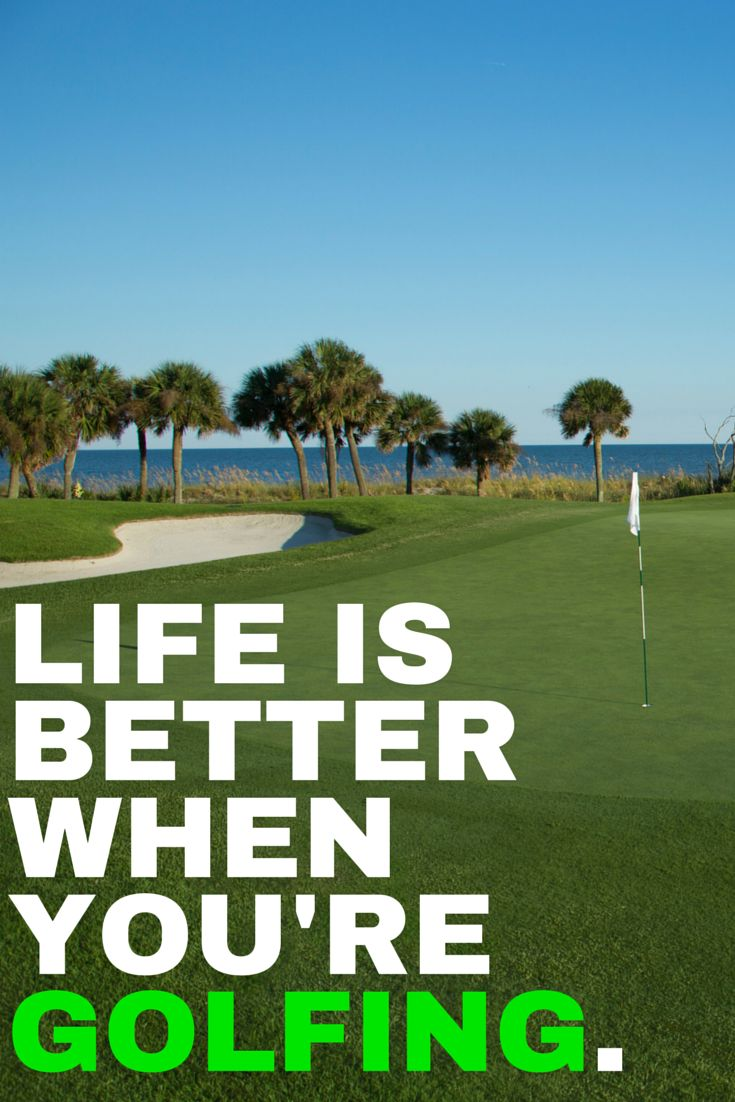 Life is better when you're golfing! | #Golf #quotes #humour