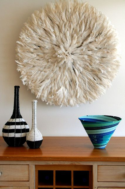 Feathered wall decor