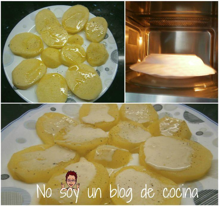 No soy un blog de cocina: Patatas al microondas con SALSA DE QUESO DE CABRA
