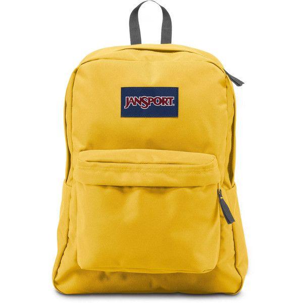 Jansport SuperBreak Backpack ($36) ❤ liked on Polyvore featuring bags, backpacks, backpack bags, knapsack bag, vinyl bag, jansport backpack and lightweight daypack