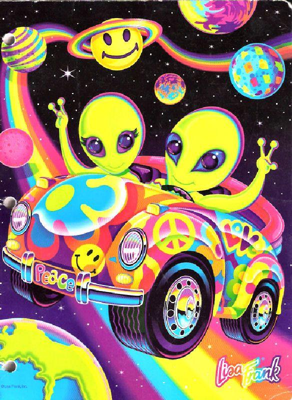 gallery for lisa frank wallpaper alien