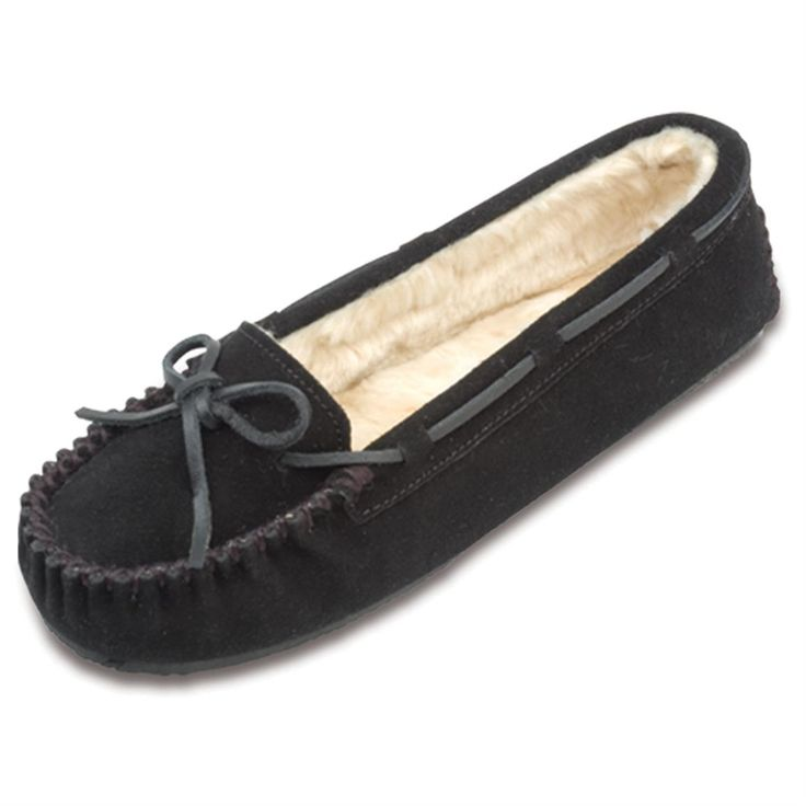 NEW Women's S.O. ASHBURY Black  Moccasins Flats Slip On Slipper Loafers Shoe