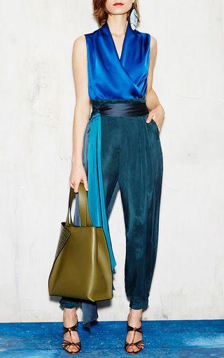 Sleeveless Crepe Blouse with Side Zip by Paule Ka   Moda Operandi