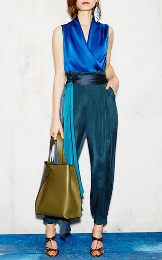 Sleeveless Crepe Blouse with Side Zip by Paule Ka | Moda Operandi