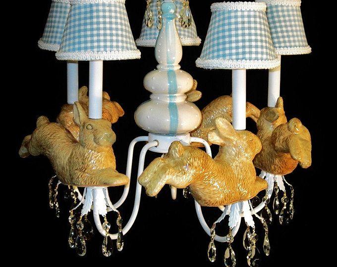 Nursery Chandelier Peter Rabbit Decor Child's Room