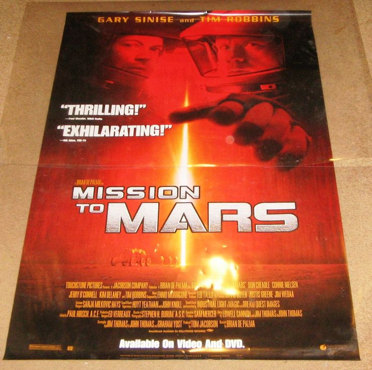 Mission To Mars Movie Poster 27x40 Used Robert Bailey Jr, Britt McKillip, Marilyn Norry, Jillian Marie, Lucia Walters, Connie Nielsen, Jill Teed, Gary Sinise, Elise Neal, Carlo Rota, Kavan Smith, Jeffrey Ballard