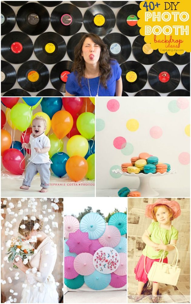 40+ DIY Photo Booth Backdrop Ideas - perfect for photographing your next party or shower.