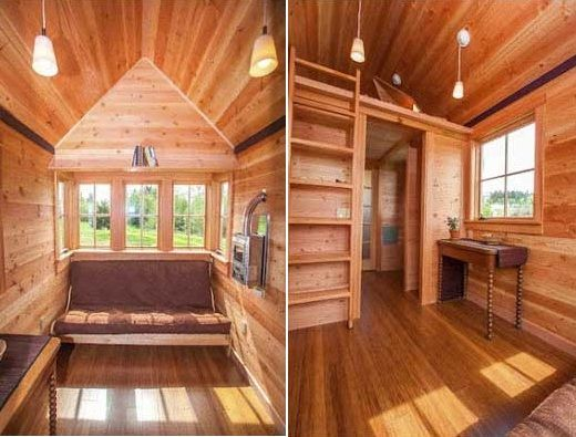 The JADE Tiny House with a unique floor plan | builder: JADE Craftsman Builders | designer: Taproot Architects