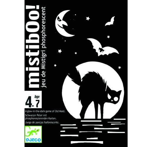 Mistibooh – fekete macskás FOSZFORESZKÁLÓ kártyajáték 4 éves kortól - Djeco