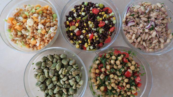 5 insalate di legumi, 5 idee per insalate estive fresche e colorate. Tanti modi creativi per cucinare i legumi: ceci, fave e fagiolini