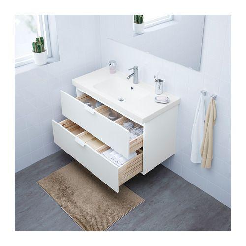 godmorgon odensvik mobile per lavabo con cassetti bianco ikea