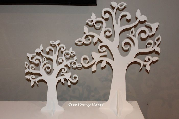 Wooden display tree - Open Leave Singing Bird tree