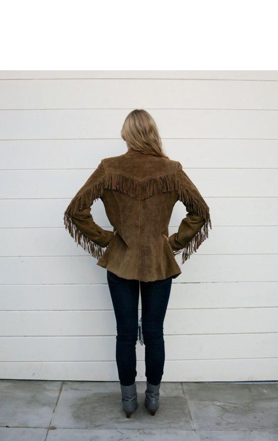 Vintage Women's Suede Fringe Jacket