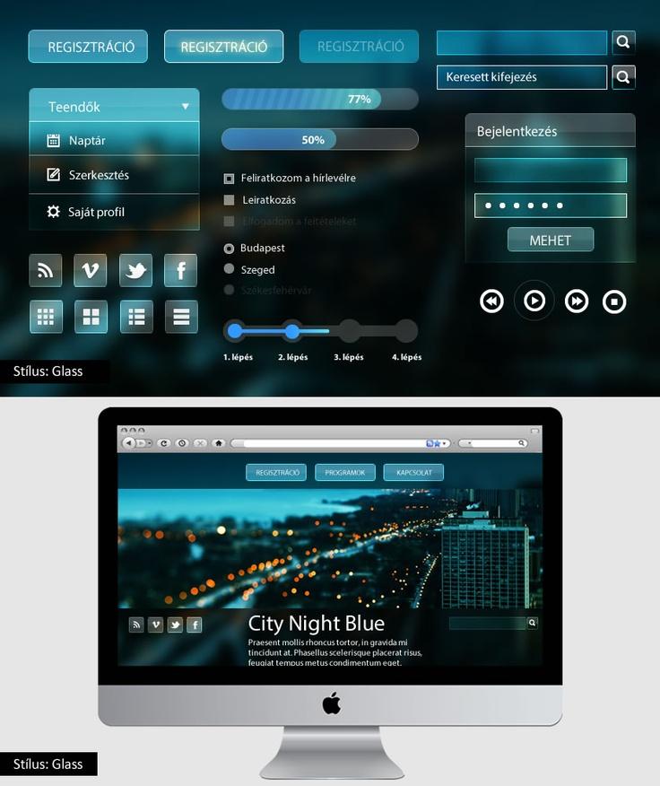 Glass UI kit- üveg hatású felület bemutató készlet. A tutorial megvásárolható május 9-től a http://www.magui.hu oldalon.
