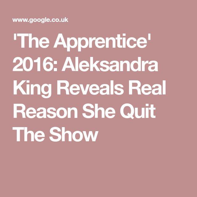 'The Apprentice' 2016: Aleksandra King Reveals Real Reason She Quit The Show