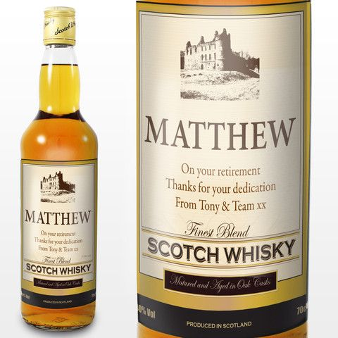 Personalised Whisky UK - Personalised Traditional Castle Whisky