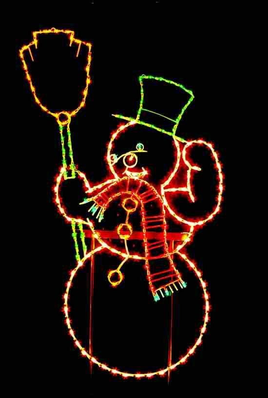 Exterior Christmas Decorating Ideas Snowman And Lights | | Home Designs And  Pictures