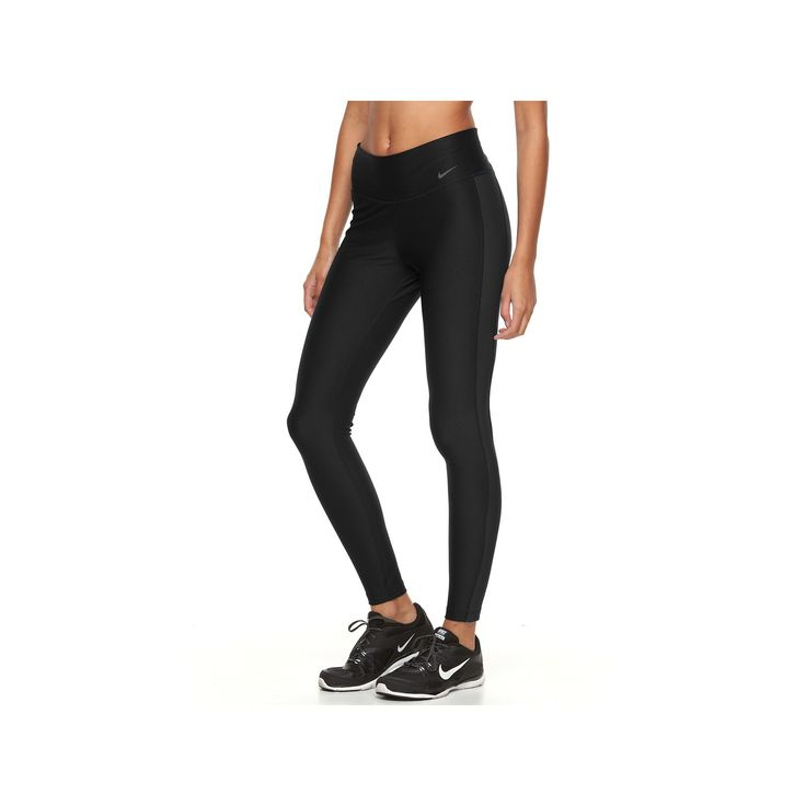 Women's Nike Power Training Workout Tights, Size: Medium, Grey (Charcoal)