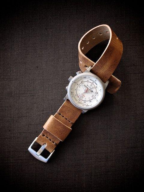 "Bas and Lokes Handmade Leather Goods - ""Tel Aviv"" Tan Handmade Leather NATO Watch Strap, $80.00 (http://www.basandlokes.com/tel-aviv-tan-handmade-leather-nato-watch-strap/)"