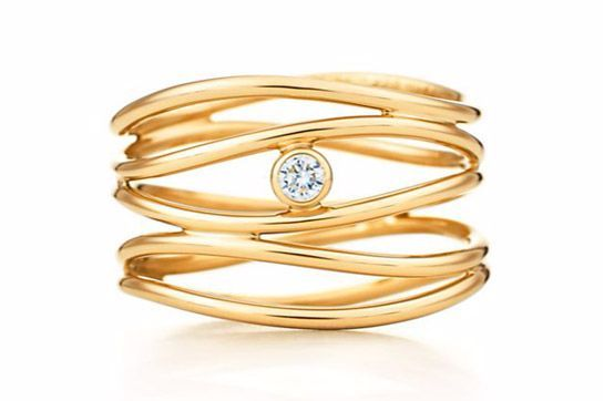 A playful silhouette featuring many wavy bands is perfect for jewelry minimalists, $1950.