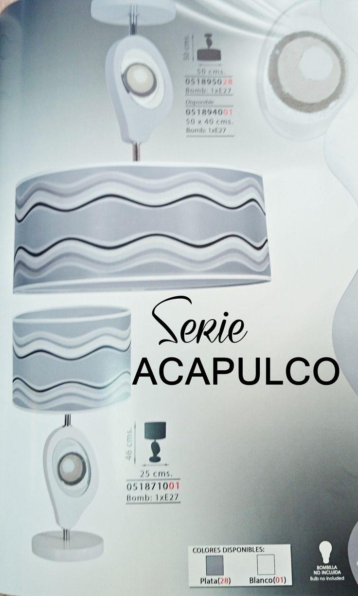 Y hoy volvemos con el catálogo de iluminación y nos vamos a Acapulco (a la serie digo) que tiene un detalle imitando la arena, que me encanta ¿y a ti?  Electricidad Gómez