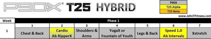 P90X/Focus T25 Hybrid http://johntfitness.com/p90x-t25-hybrid-schedule/