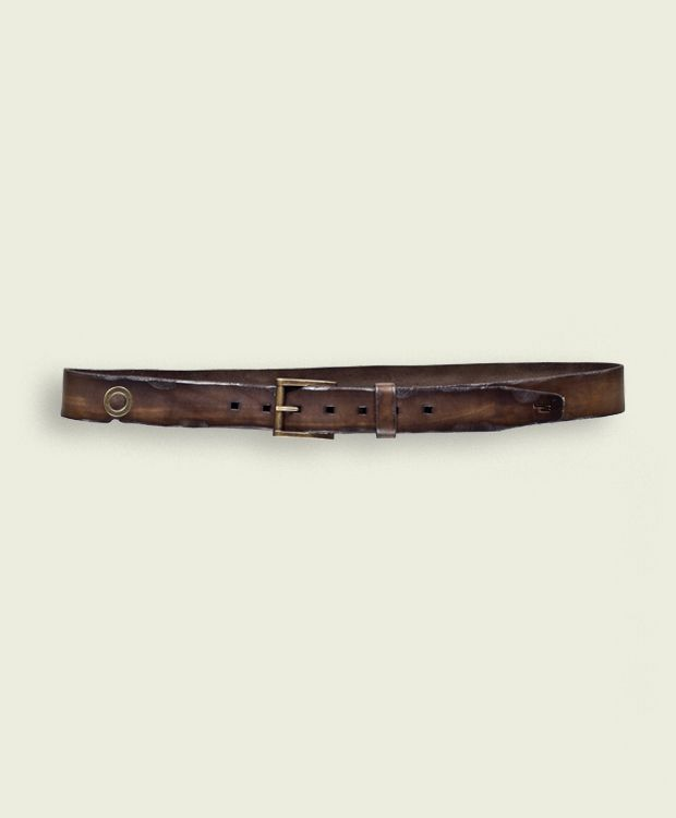 Iwo Jima - Dark Brown  Belt High 3,5 cm  100% Made in Italy - Verona  Certified Original Italian Product  Real Leather  Handmade  Vintage Aviation Department   £51