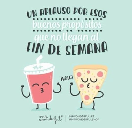 Mr Wonderful #weekend #propósitos