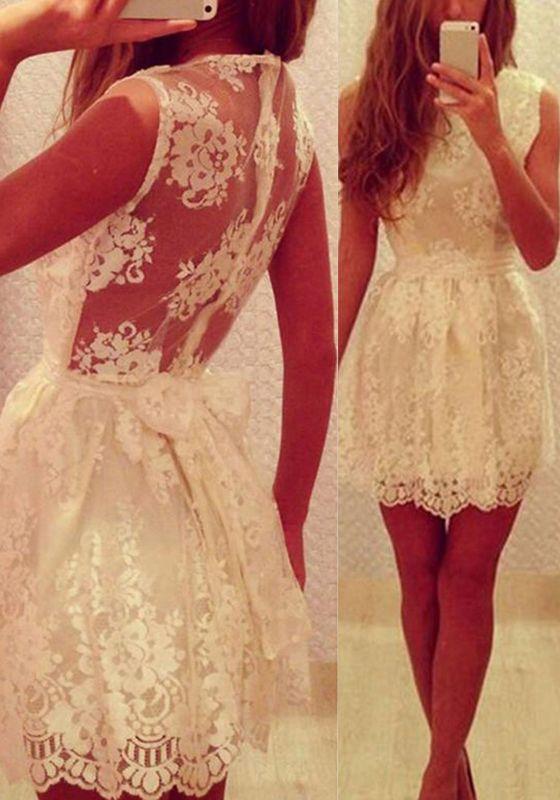 2016 homecoming dress,light champagne homecoming dress,lace homecoming dress,short/mini homecoming dress,back illusion homecoming dress,high quality homecoming dress