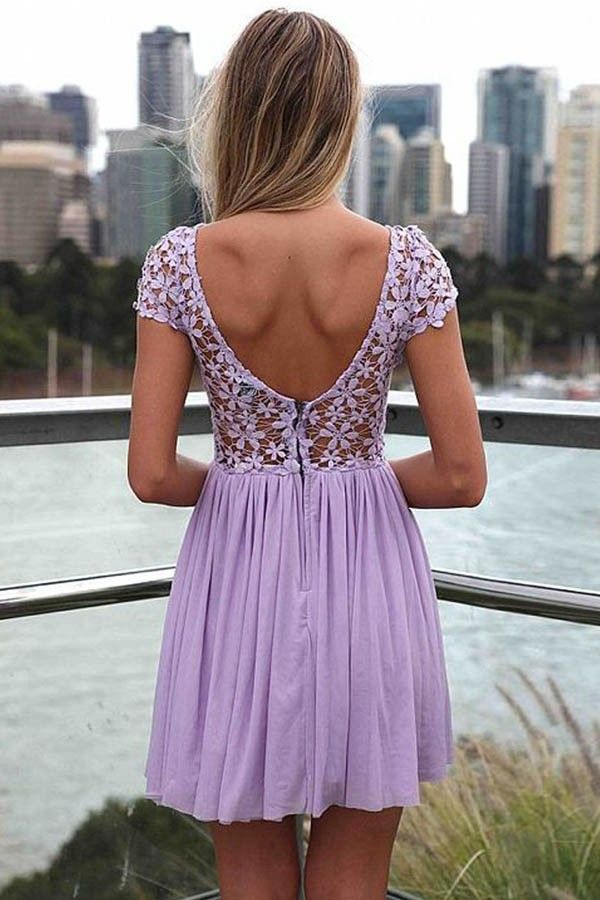 Light Purple Crochet Lace Dress