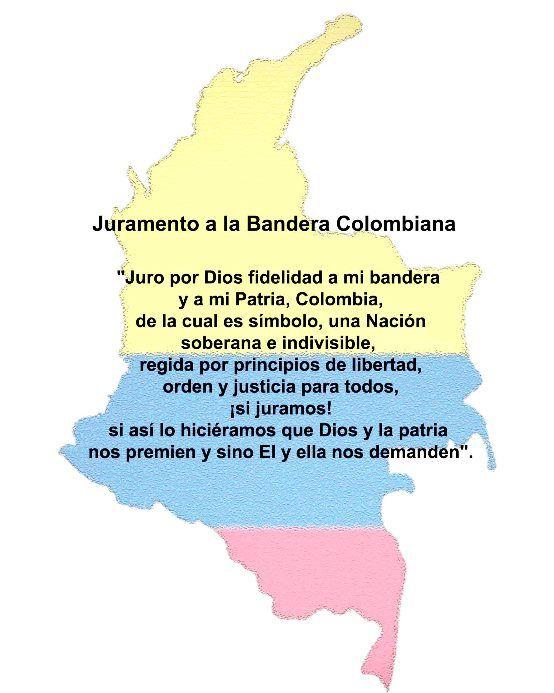 Resultado de imagen para juramento ala bandera de colombia