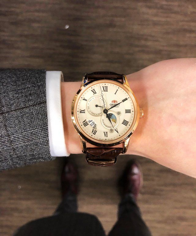 e66600fc7 Orient] Sun & Moon V3 at work : Watches   Classic in 2019   Orient ...