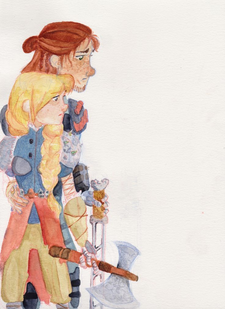 She comes back to you fanart by Poppy How to train your dragon characters: Hiccup and Astrid, hiccstrid fan art