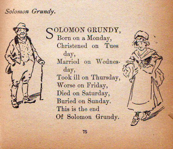 Solomon Grundy poem