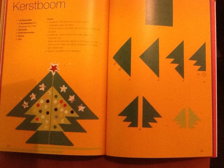kerstboom vouwen (Thea van Mierlo)