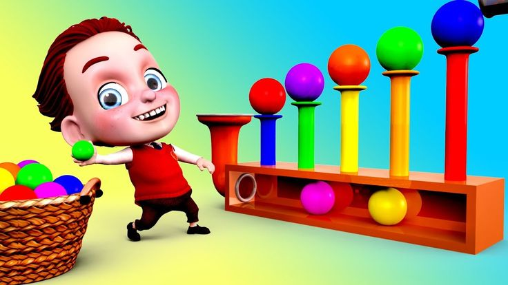 Learn Colors with Benny Plays Bouncing Balls Toy 3D Colors for Kids Chil...