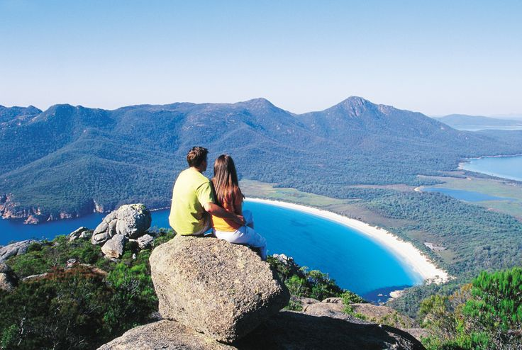 The view from Wineglass Bay #Tasmania