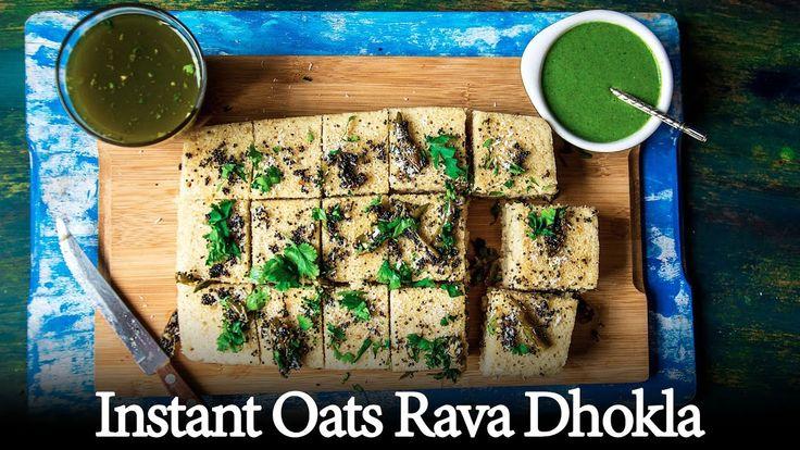Instant Oats Rava Dhokla   Healthy Sooji aur Oats Ka Dhokla Recipe Video...