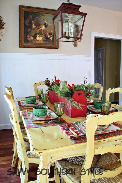Savvy Southern Style: Christmas in the French Country Breakfast Room 201