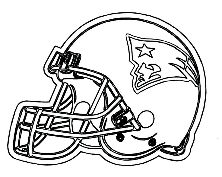 football helmet patriots new england coloring pages