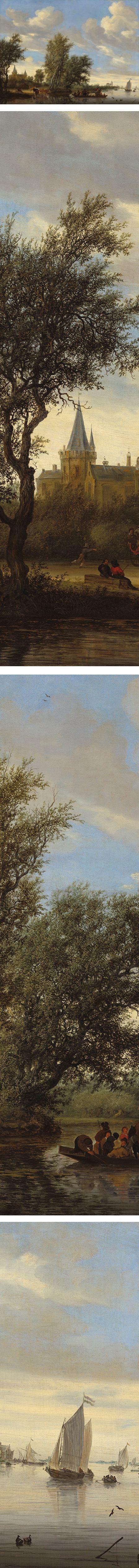 Eye Candy for Today: Salomon van Ruysdael river landscape