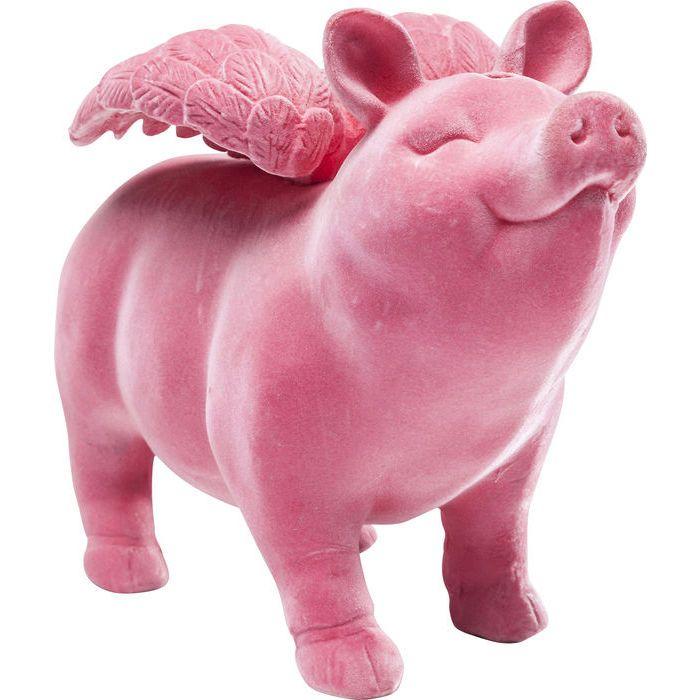 ホーム :: ACCESSORIES :: 貯金箱 :: Money Box Flying Pig Flock Pink