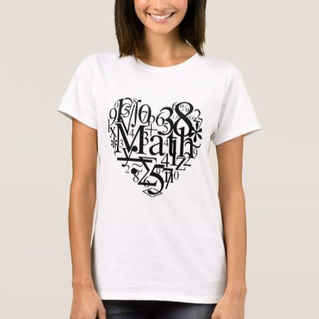 Math Heart T-Shirt - click to get yours right now!