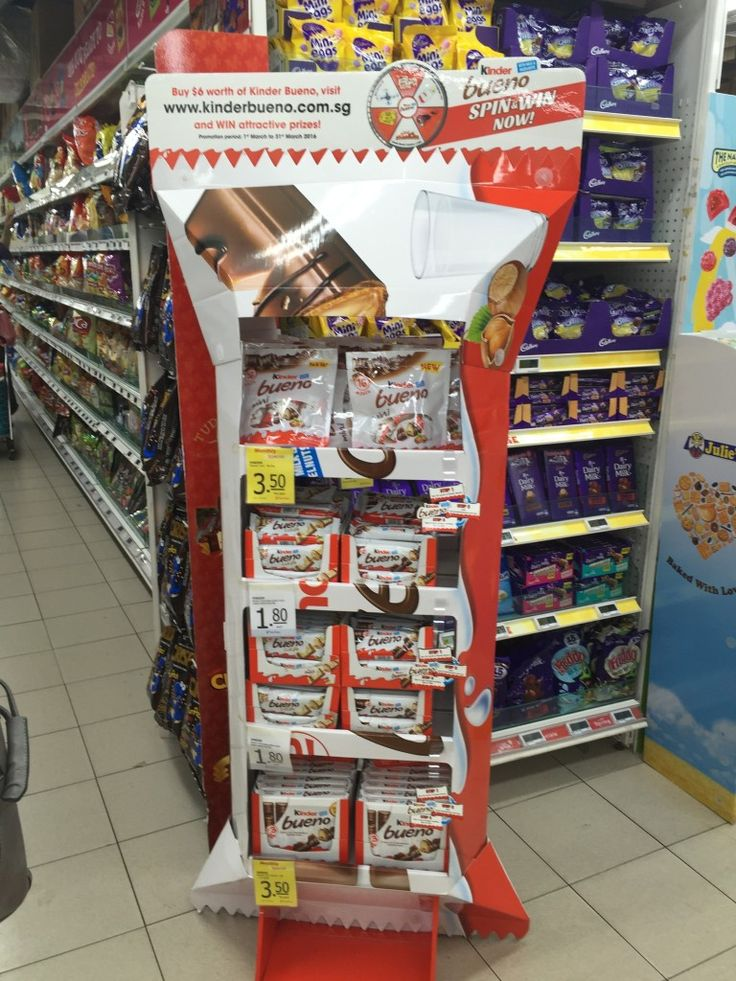 2Kinder Bueno Supermarket Product Stand Display