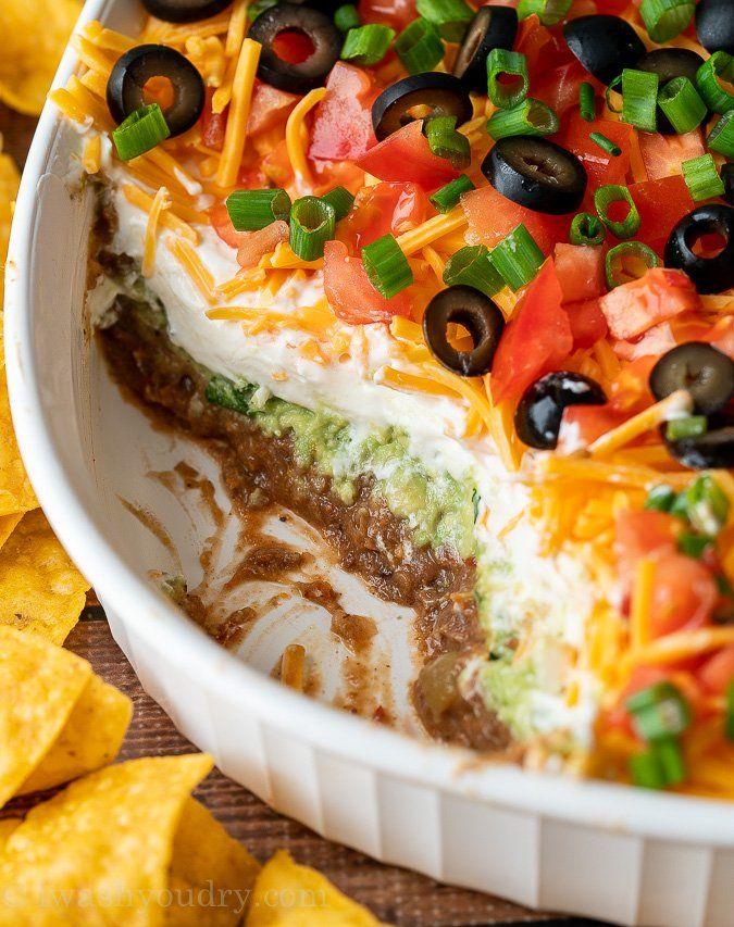 7 Layer Dip Recipe Recipe In 2020 Layered Dip Recipes Layered Bean Dip 7 Layer Dip Recipe