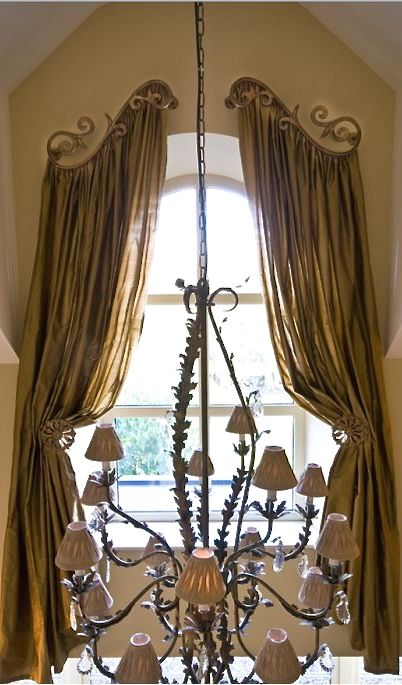 curtains. How to dress an arch.