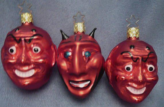 Devil Christmas Ornaments Glass Old World Christmas Halloween