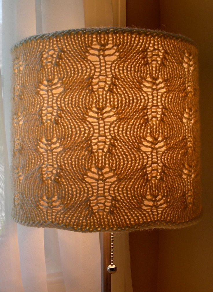 498 best crochet knit lampshades images on pinterest lamp knitting pattern gentle swirls lamp cozy ad lace lampshade cover uses just one skein mozeypictures Image collections