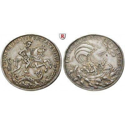 Ungarn, Kremnitz, 1/2 Georgstaler ohne Jahr (18. Jh.), f.vz: 1/2 Georgstaler ohne Jahr (18. Jh.). (C. H. Roth) Hl. Georg zu Pferde… #coins